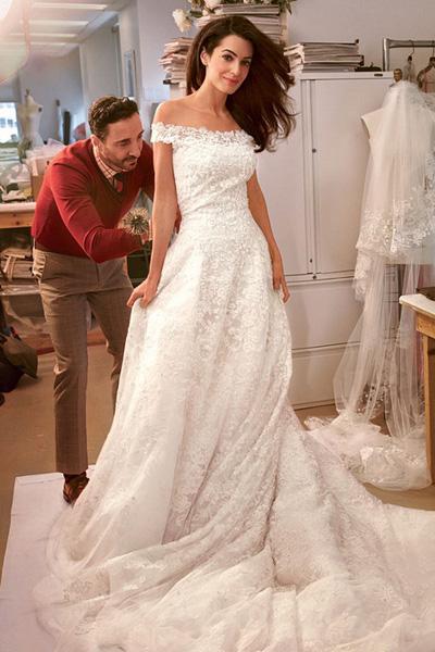 Amal Alamuddin Wedding Style