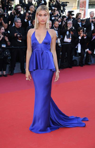 Hailey Baldwin Cannes red carpet