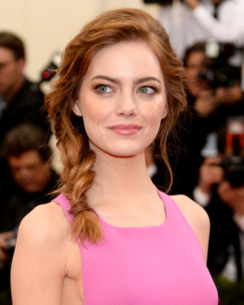 emma stone braided hairstyle