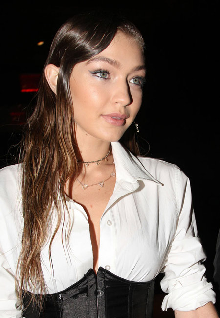 Gigi Hadid Wet Hair Look
