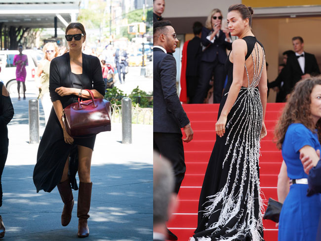 Supermodels On and Off Red Carpet
